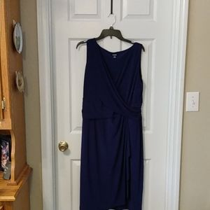 Chaps rouched dress